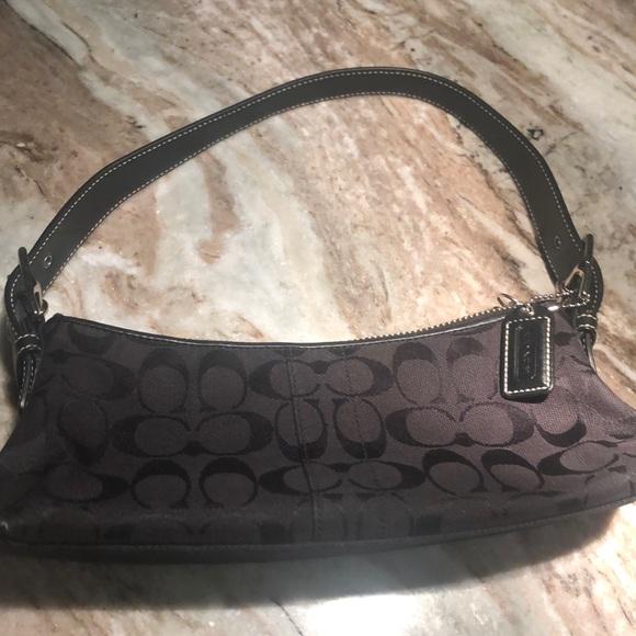 Coach Handbags - Coach small bag Black🖤with silver hardware